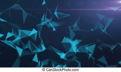 couleur, résumé, fond, géométrique, triangle, bleu