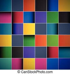 couleur, résumé, fond, tuiles
