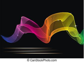 couleur, résumé, incandescent, conception, fond, ton