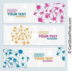 couleur, résumé, vecteur, réseau, connexion