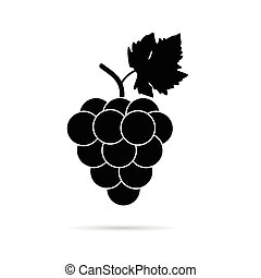 couleur, raisin, noir, illustration