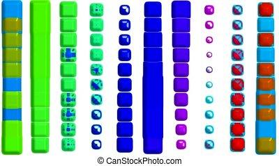 couleur, rythme, musique, danse, bouton