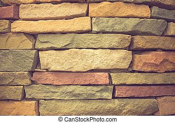 couleur, texture pierre, haut, moderne, fin, arrière-plan., vendange, brique-mur