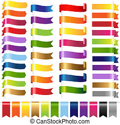 couleur, toile, ensemble, rubans