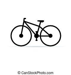couleur, vélo, noir, illustration