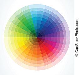 couleur, vecteur, wheels., illustration