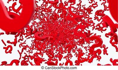 couleur, voler, question, rouges, marques