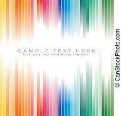 couleurs, arc-en-ciel, arrière-plan dépouillé, brochure