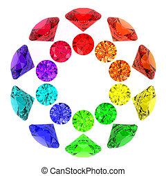 couleurs, arc-en-ciel, gemstones, kaléidoscope