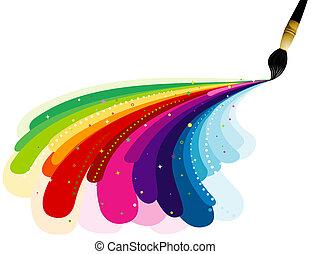 couleurs arc-en-ciel, peinture