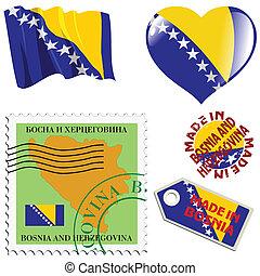 couleurs, national, bosnie