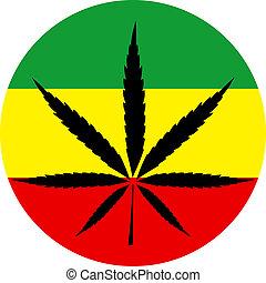 couleurs, rasta, marijuana
