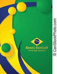couleurs, vagues, fond, brésilien