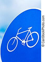 couloir bicyclette, panneau de signalisation