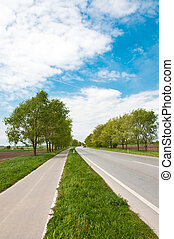 couloir, vélo, route