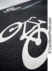 couloir, vélo, signe