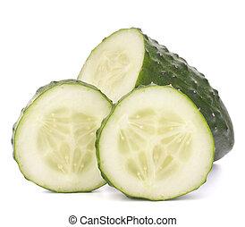 coupé, légume, concombre