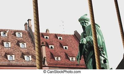 coup, ancien, tourner, france., frame., fin, carrousel, ville, haut, très, beau, architectural, exciter, européen, monument