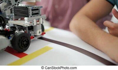 coup, conduite, soi, haut, appareils, entartré, robotique