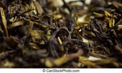 coup, macro, jasmin, vert, chariot, tas, thé