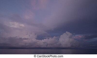 coup, nuage, océan
