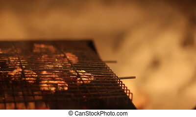 coup, time., closeup, barbecue, hd