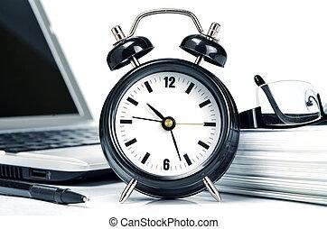 coup, travail bureau, relation, temps, conceptuel, efficiency.