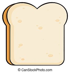 couper, dessin animé, pain