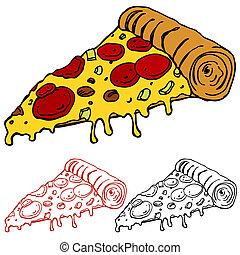 couper, juteux, pizza