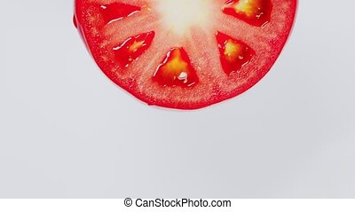 couper, tomate, rouges, space., beau, rotating., copie
