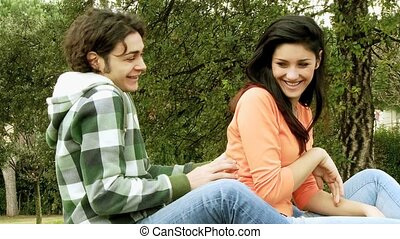couple, amour, rire, jouer
