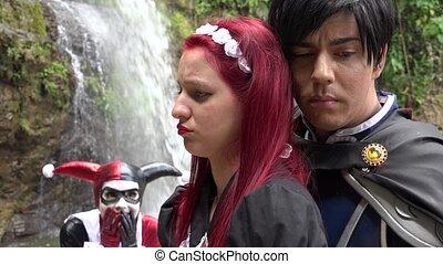 couple, amour, romantique