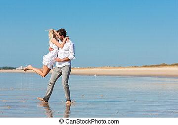 couple, avenir, plage, courant, glorieux