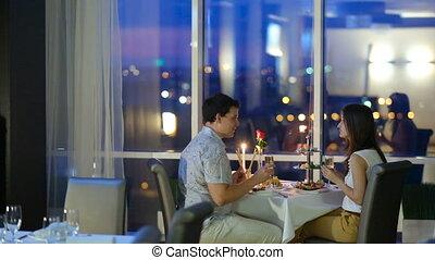 couple, café, romantique
