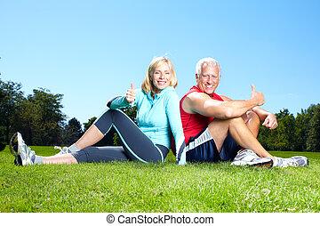 couple., fitness