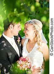 couple, heureux, mariage
