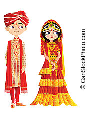 couple, indien, mariage
