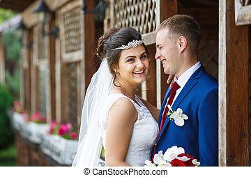 couple, jardin, mariage