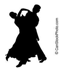 couple, latin, danse