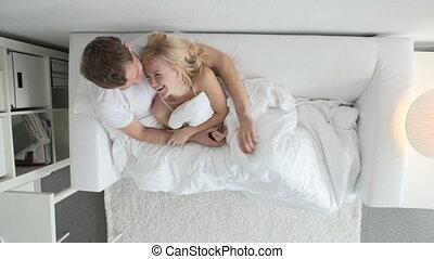 couple, lit