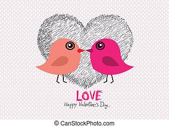 couple, main, w, mariage, dessiné, dessin animé