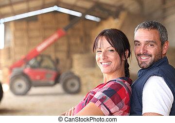 couple, paysan