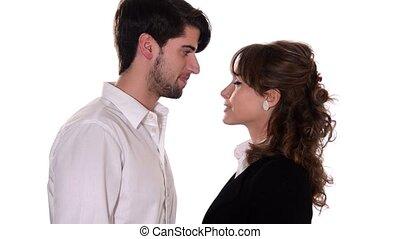 couple, romantique, jeune