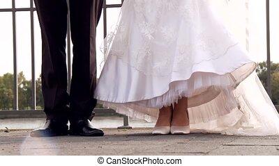couple, sauts, mariage