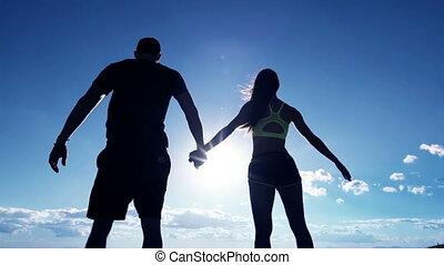 couple, sommet