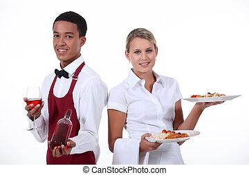 couple, waiter.
