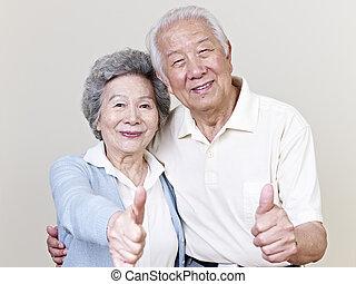 couples aînés, asiatique