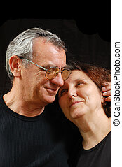 couples aînés, heureux