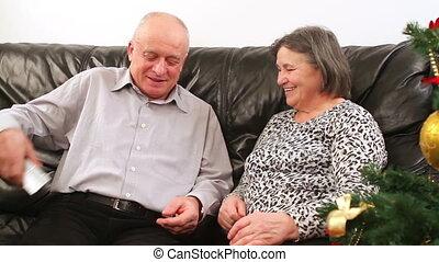 couples aînés, noël