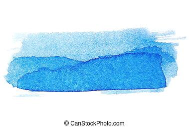 coups, brosse, encre bleue, peint